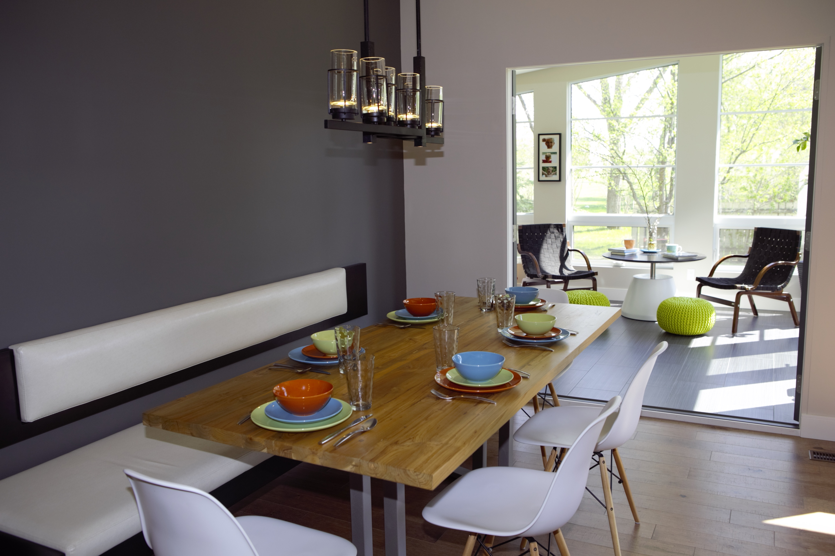 Dining Room Opens to Patio